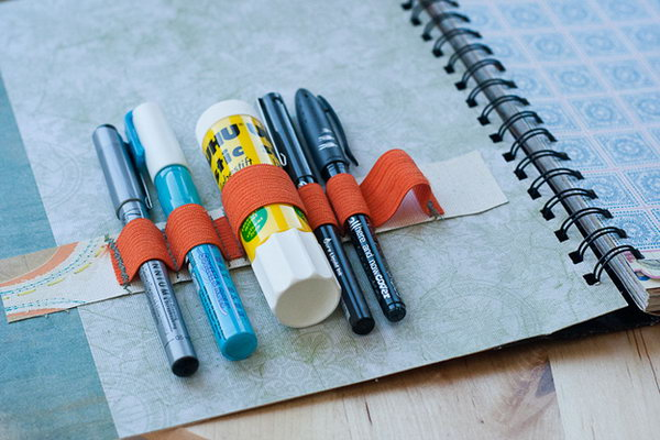 Supply Holder Notebook