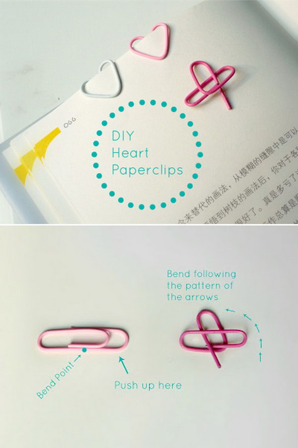 Heart Shaped Paperclips