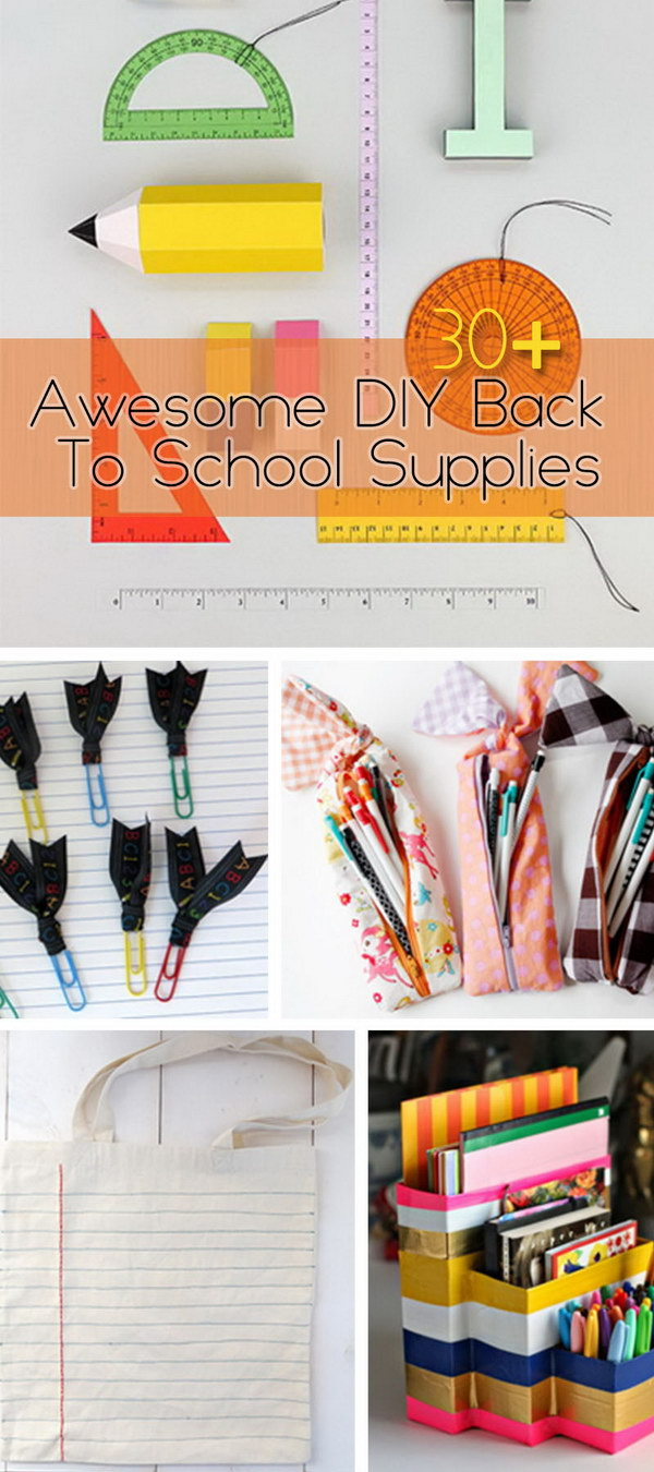 Awesome DIY Back To School Supplies!