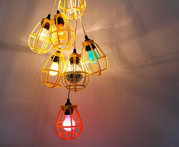 Work Light Chandelier. Get the full direction