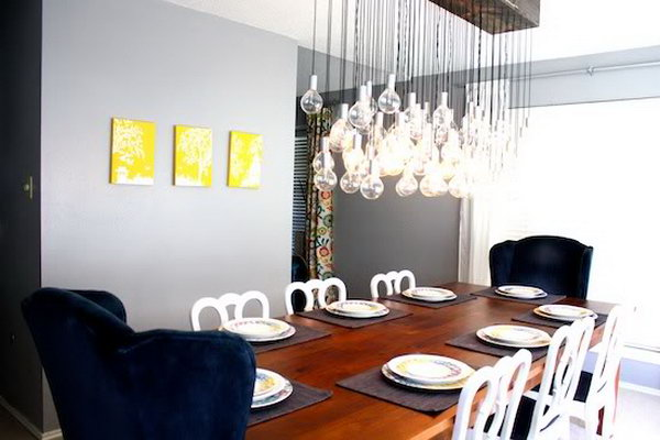 Modern Handmade Dining Room Light. Check out the tutorial