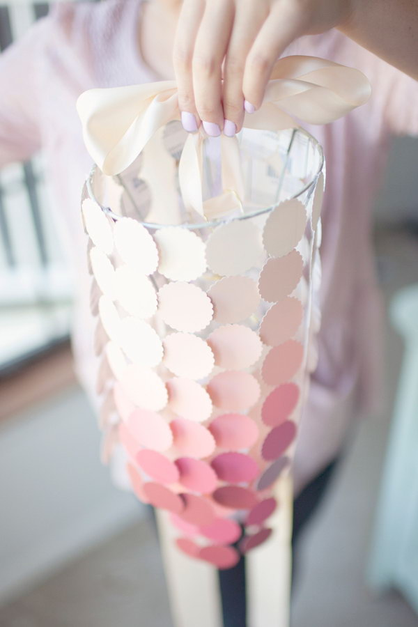 Paint Swatch Chandelier. Get the directions