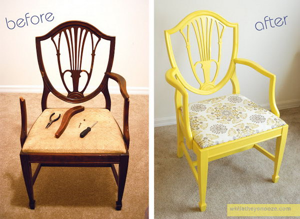shabby chic Side Chair Makeover
