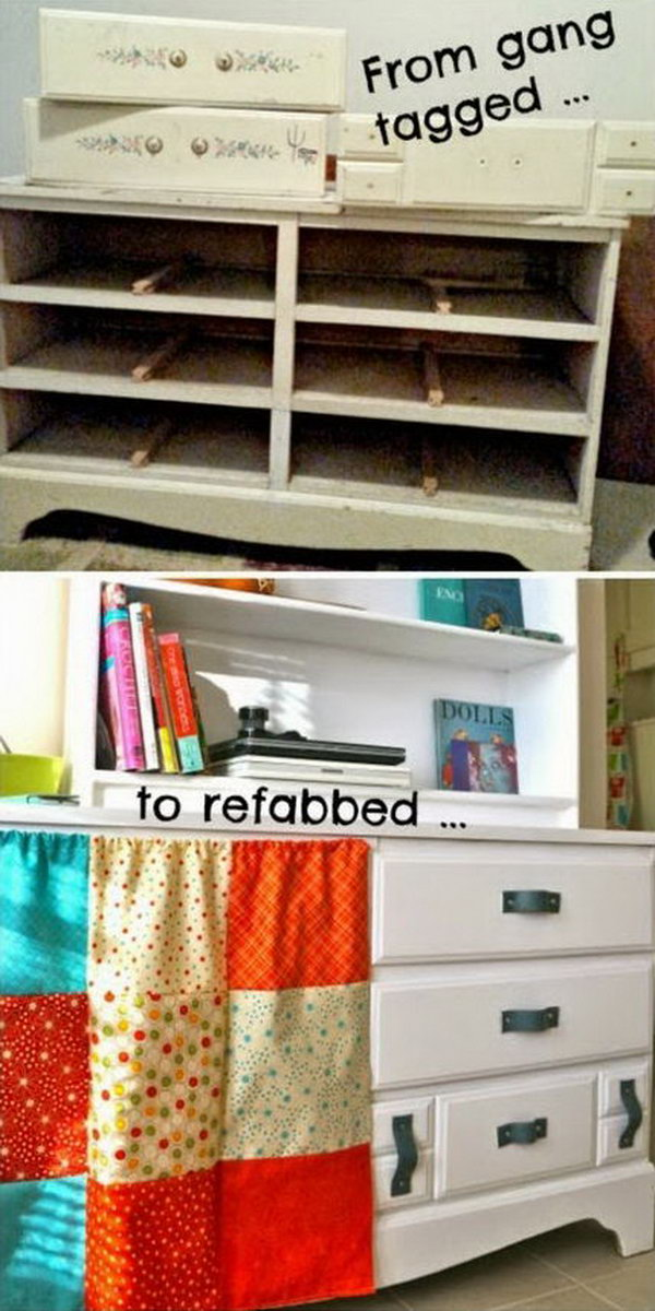 Upcycled Gang Tagged Dresser