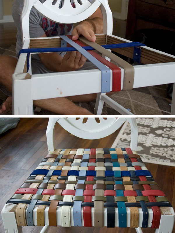 DIY Belted Chairs