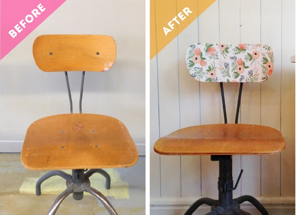 An Extra Sweet Vintage Chair Makeover Using Rifle Paper Wrap