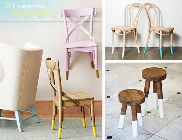 DIY Dip Dye Chairs