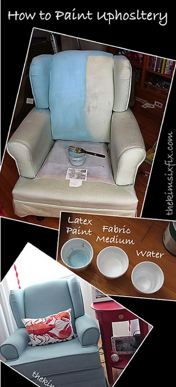 Painted Fabric Chair