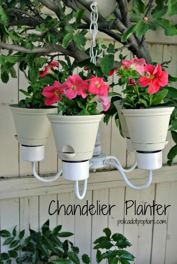 DIY Chandelier Planter. See more details