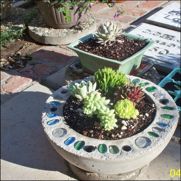 DIY Bowling Ball Planter. See the direction