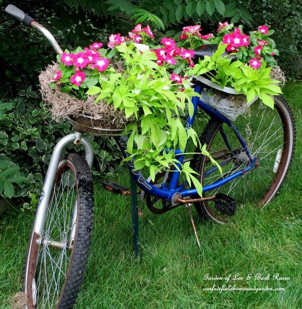 DIY Bicycle Planter. Get the tutorial