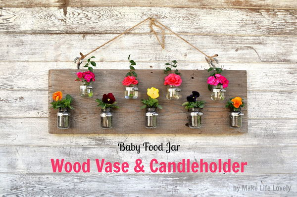 DIY Planter Made with Baby Food Jars. See the tutorial