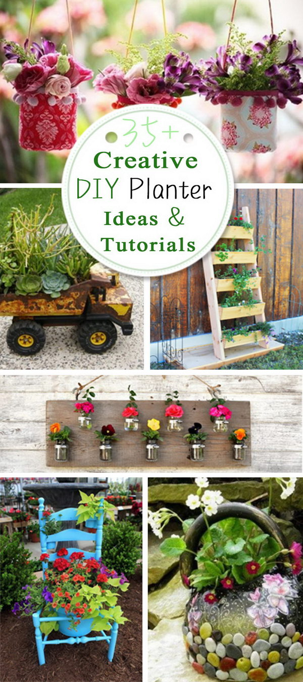 Creative DIY Planter Ideas and Tutorials!