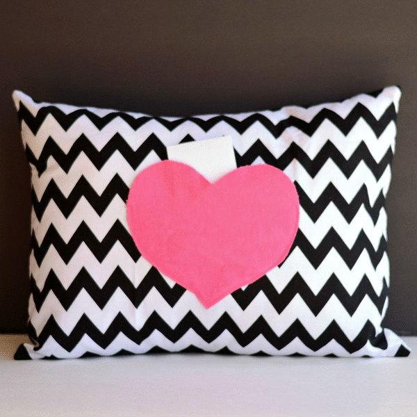 Secret Love Notes Envelope Pillow Cover