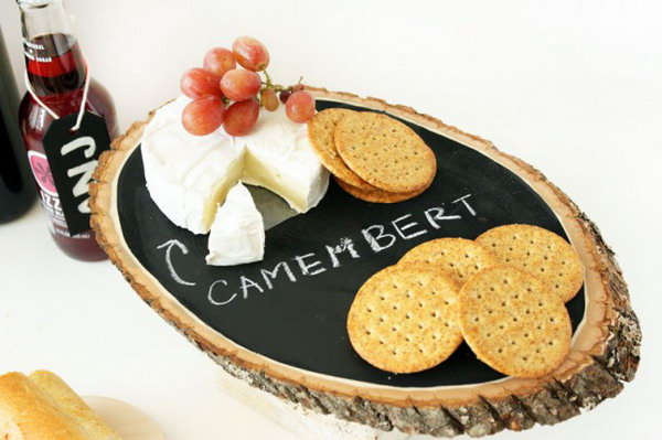 Chalkboard Cheese Tray. Get the tutorial