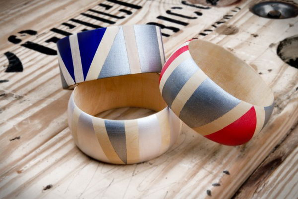 Painted Wooden Bangles. See more details