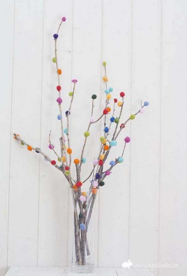 Pom pom Branch Bouquet