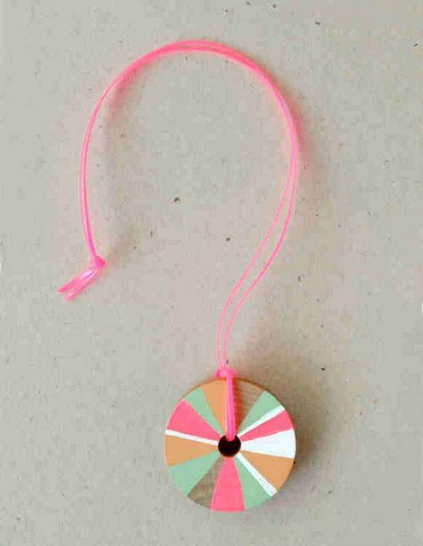 DIY Pinwheel Necklace for Girl