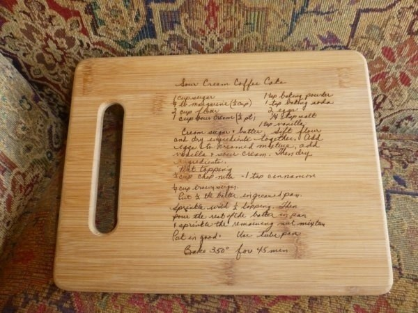 Family Recipe Etched Cutting Board