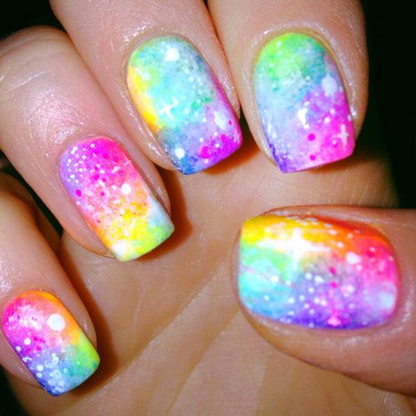 Neon Galaxy Nail.