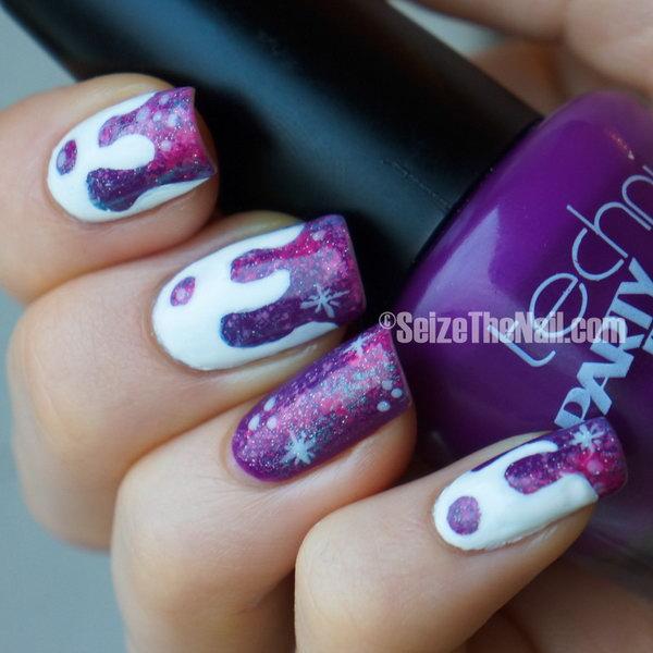 Dripping Galaxy Nails.