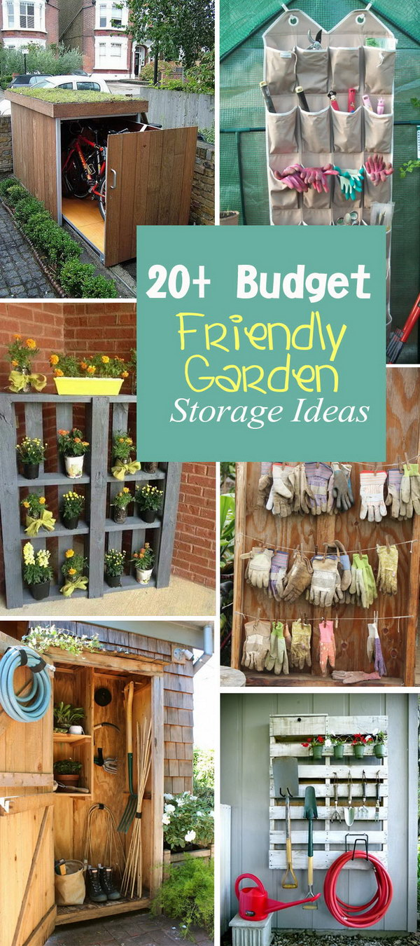 Budget Friendly Garden Storage Ideas!