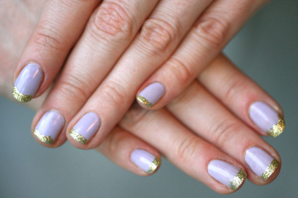 Glittery Tips. Such beautiful colors, cannot wait to try them!