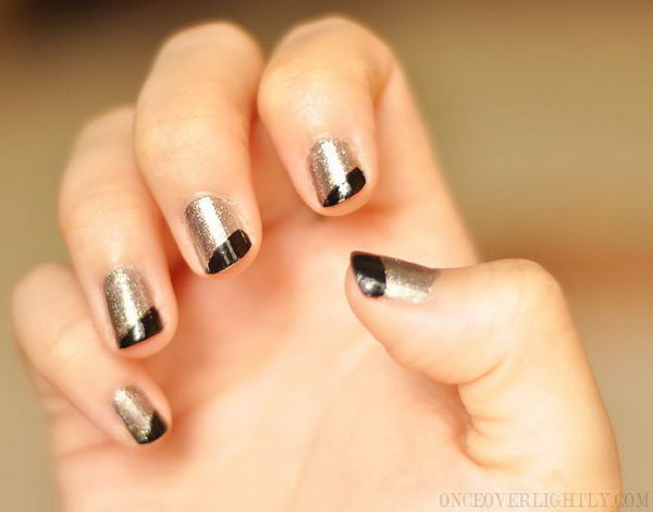 Asymmetrical French Mani. Such beautiful colors, cannot wait to try them!