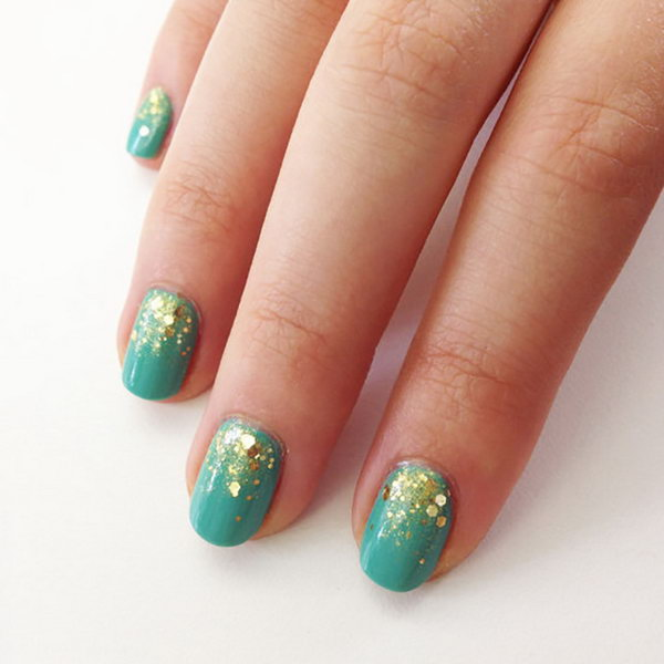 Glitter Gradient Nails. Such beautiful colors, cannot wait to try them!
