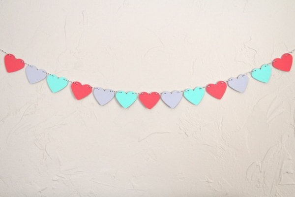 Paint Chip Heart Garland. Check out more