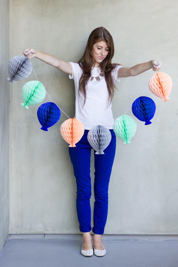 Honeycomb Balloon Garland. See how