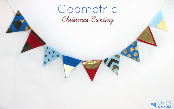 Geometric Christmas Bunting Garland. See the details