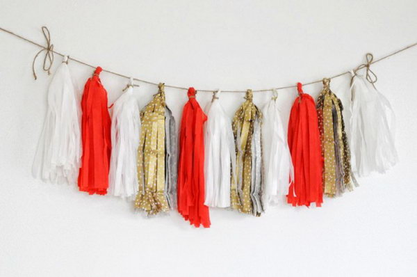 Paper Tassel Garland. Check out the steps