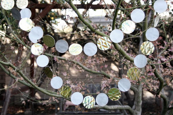 Recycled Gift Bag Garland. See how