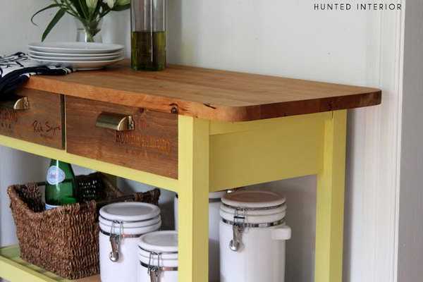 Colorful Kitchen Island. Get more directions