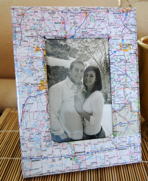 This Map Picture Frame Would Make A Great Gift For A Friend Moving Away