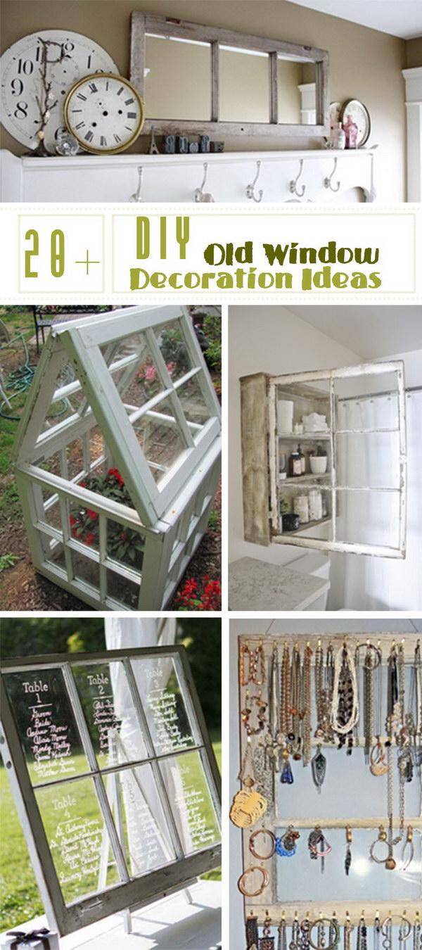 Lots of DIY Old Window Decoration Ideas!