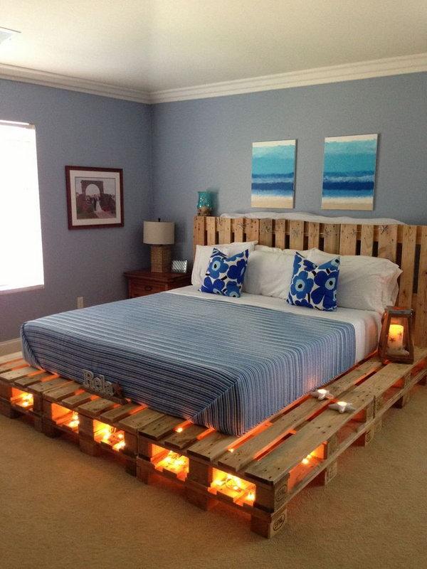 DIY Pallet Bed.