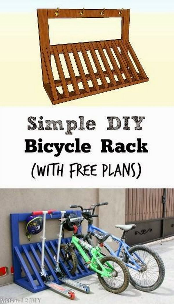 DIY Pallet Bicycle Rack.
