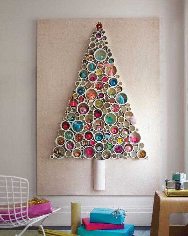 PVC Pipe Tree as Wall Art.