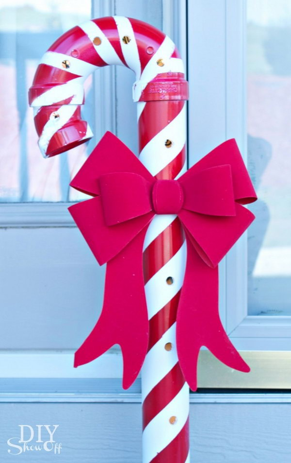 PVC Candy Canes.