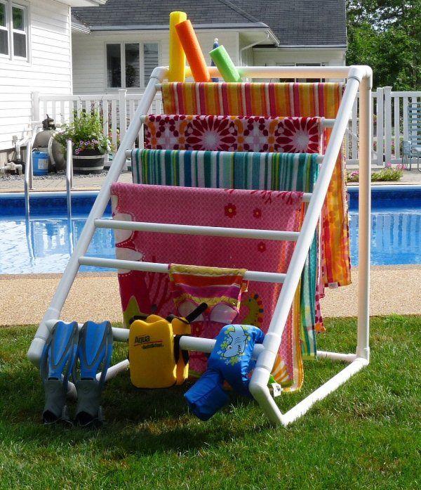 DIY PVC Pipe Drying Rack.