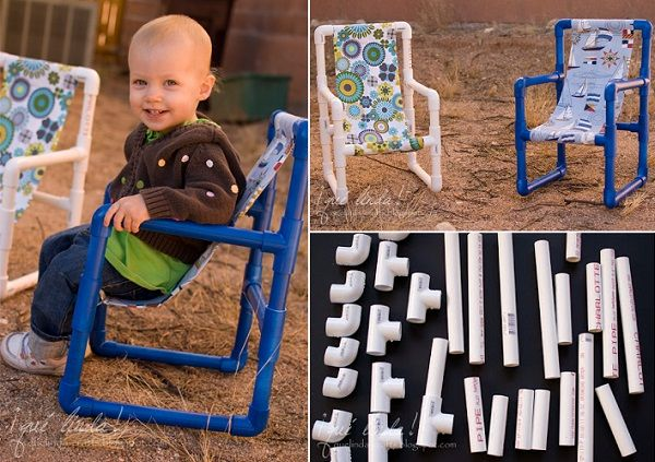 DIY Toddler Chairs Made out of PVC Pipe.