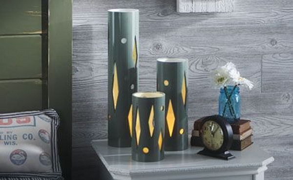 PVC Table Lamp. See the tutorial