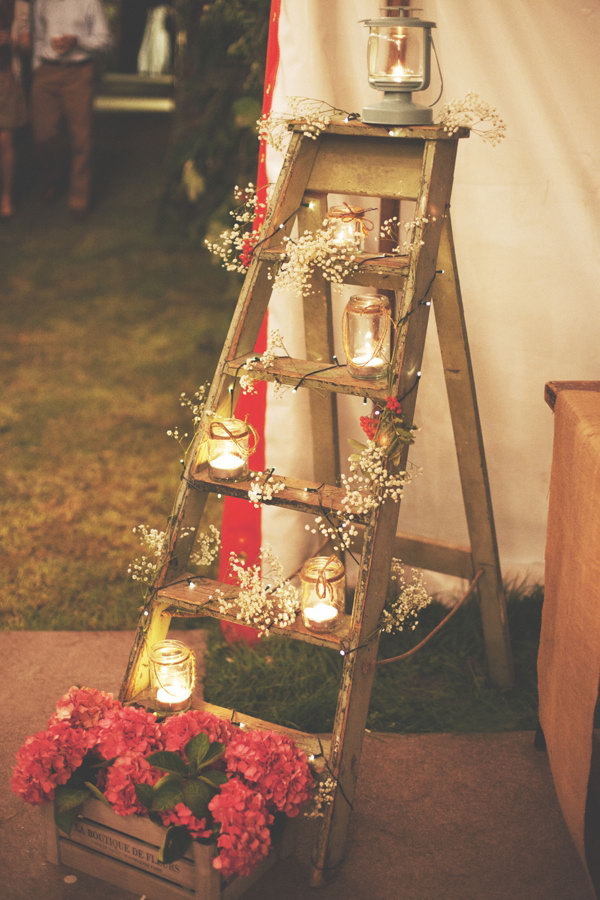 DIY Rustic Wedding Decoration.