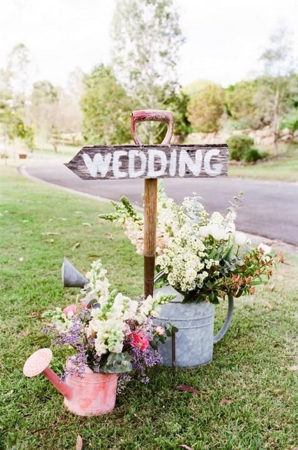 Rustic Wedding Reception Sign.