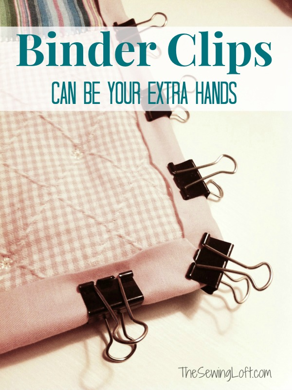 Use binder clips for sewing