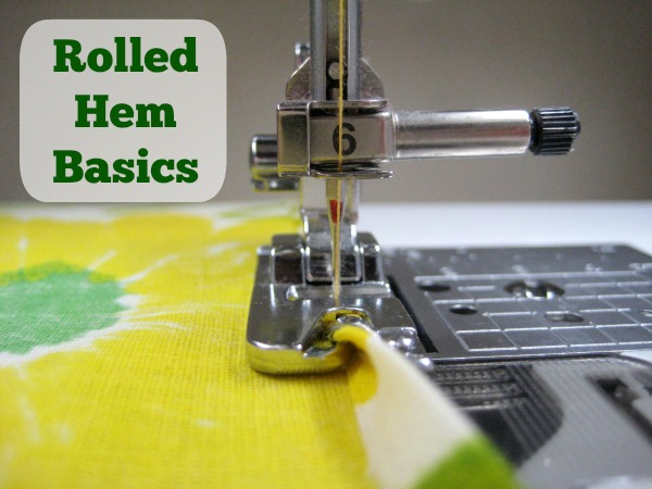 How to make a rolled hem with this trick