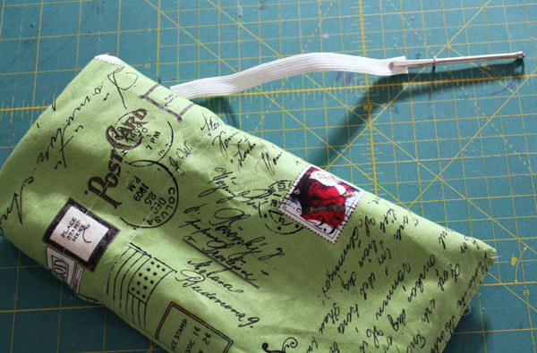 Use a bodkin to insert elastic into a casing