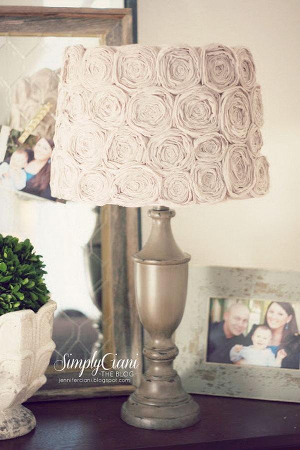 DIY Shabby Chic Lamp.